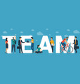 team concept for web site header vector image vector image