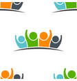 teamwork five friends image pattren vector image vector image