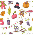 thanksgiving seamless pattern autumn harvest vector image vector image