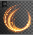 transparent curvy light effect vector image vector image