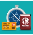 travel around the world design vector image