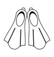 two flippers icon image vector image