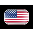 United States of America Flag with Rounded Corners vector image vector image
