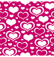 valentine heart pattern purple vector image vector image