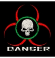 Warning symbol with skull vector image