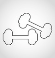 weight lifting vector image vector image