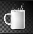 white cup mug realistic ceramic or vector image vector image