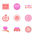 best mom ever icons set cartoon style vector image