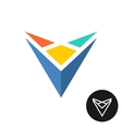 Triangle tech abstract colorful logo vector image