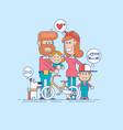 happy family father mother and two children vector image