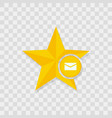 star icon mail icon vector image