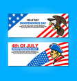 4th of july greetings banner vector image vector image