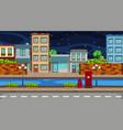 a night urban scene vector image vector image