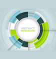 abstract futuristic background with circular vector image vector image