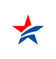 american star logo template vector image