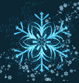 beautiful winter background with snowflakes for vector image