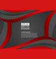 black and red color geometric curve abstract vector image