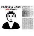 call center operator icon with bonus vector image vector image