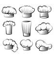 chef hat cook professional clothes for preparing vector image