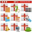 Christmas Delivery Set 8 vector image vector image