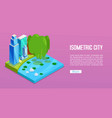 cityscape elements with isometric buildings city vector image