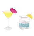classic alcohol cocktail drinks isolated on white vector image
