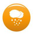 cloud rain icon orange vector image