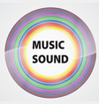 colorful vinyl with words music sound color vector image