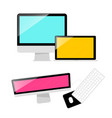 computers computer laptop and keyboard with mouse vector image vector image