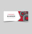 corporate banner with lens camera vector image vector image