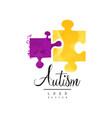 creative logo for autism awareness day