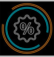discount percent sign sale percentage vector image