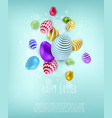 easter banner background template with beautiful vector image vector image