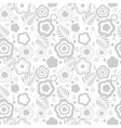 Elegant seamless pattern with silver flowers vector image vector image