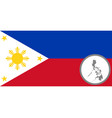 flag and map philippines vector image vector image