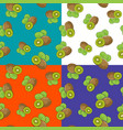 four seamless pattern with kiwifruit vector image vector image