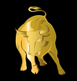 gold bull vector image vector image