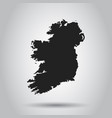 ireland map black icon on white background vector image vector image