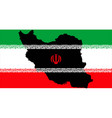 islamic republic of iran with flag inside map vector image vector image