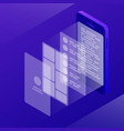 isometric app development vector image vector image