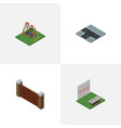 isometric urban set of barrier seesaw crossroad vector image vector image