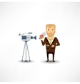journalist said on camera vector image vector image
