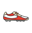 line color icon sneakers strike boots vector image