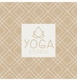 Lotucs And Text Yoga Studio Design Card vector image vector image