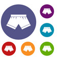 male underwear icons set vector image vector image