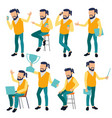 man set modern gradient colors people vector image vector image