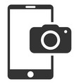 mobile camera flat icon vector image