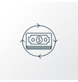money flow icon line symbol premium quality vector image vector image