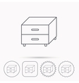 Nightstand icon Bedroom furniture sign vector image
