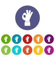 Ok gesture set icons vector image vector image